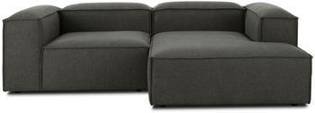 Canapé d'angle modulable gris anthracite Lennon
