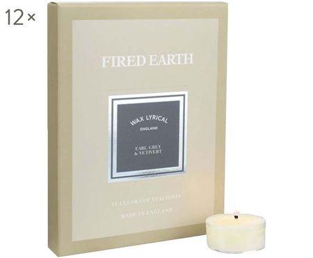 Teelichter Fired Earth, 12 Stück (Earl Grey & Vetiver)