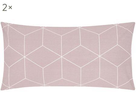 Renforcé-Kissenbezüge Lynn mit grafischem Muster, 2 Stück