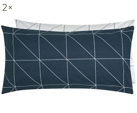 Oboustranný povlak na polštář zbavlny renforcé s grafickým vzorem Marla, 2ks