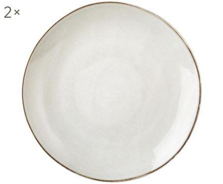 Assiettes plates faites à la main Thalia, 2 pièces