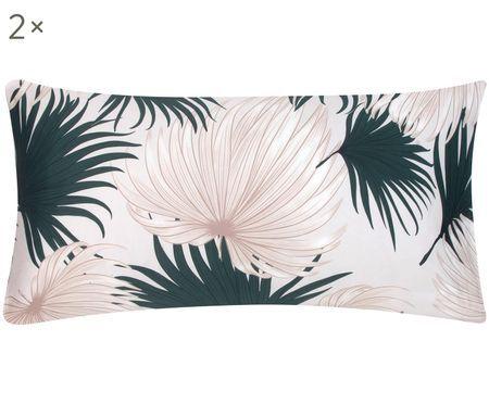 Poszewka na poduszkę z satyny bawełnianej Aloha, 2 szt.