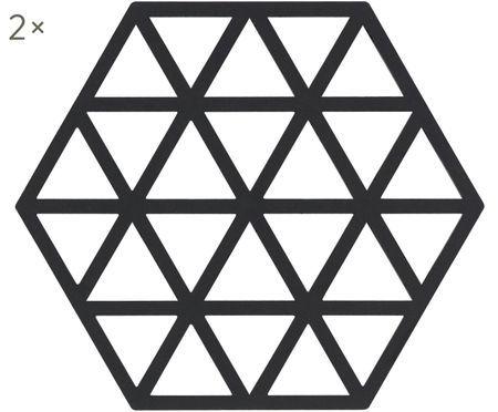 Silikon Topfuntersetzer Triangle, 2 Stück
