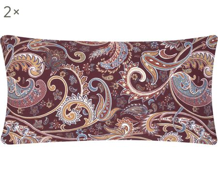 Renforcé-Kissenbezüge Liana mit Paisley-Muster, 2 Stück