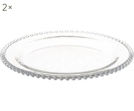Assiettes plates Perles, 2pièces