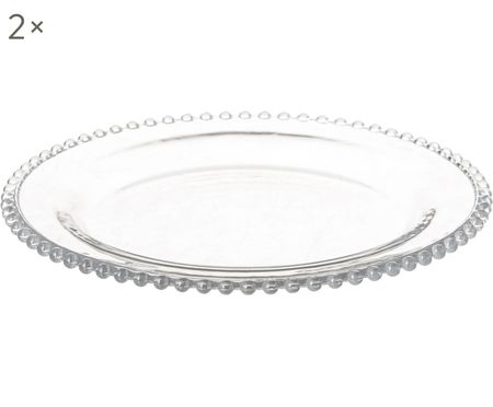 Speiseteller Perles, 2 Stück