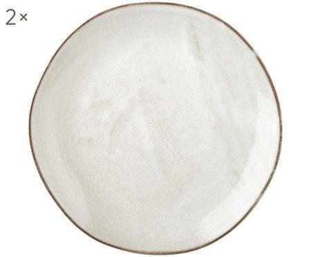 Assiettes à dessert artisanales Thalia, 2 pièces