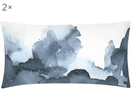 Renforcé-Kissenbezüge Thea mit Aquarell Print, 2 Stück