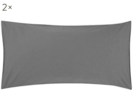 Poszewka na poduszkę z perkalu z lamówką Daria, 2 szt.
