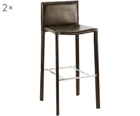 Krzesło barowe ze sztucznej skóry Camille, 2szt.