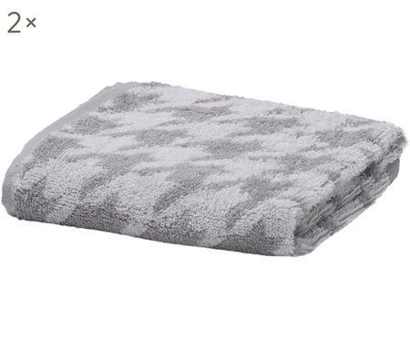 Asciugamani per ospiti Daily Shapes Bird, 2 pz.