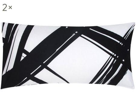 Renforcé-Kissenbezüge Brush mit abstraktem Print, 2 Stück