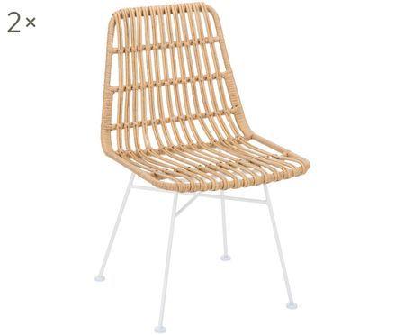 Polyrattan-Stühle Tulum, 2 Stück