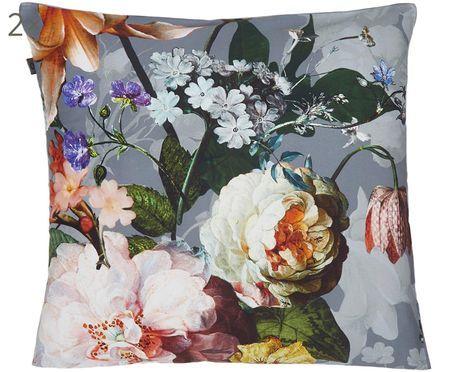 Housses de coussin réversibles en satin de coton Fleur, 2 pièces
