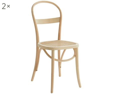 Krzesło z drewna Rippats, 2 szt.