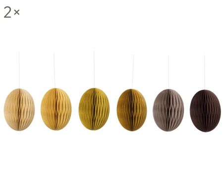Komplet wiszących dekoracji wielkanocnych Curry, 12 elem.