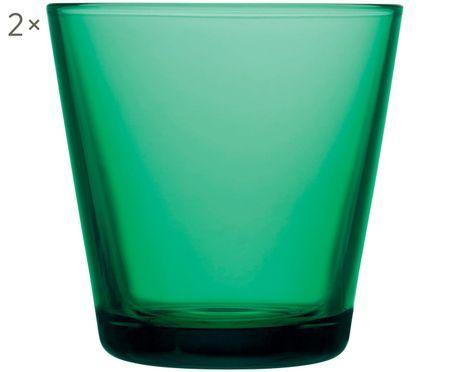 Verres à eau verts Kartio, 2pièces