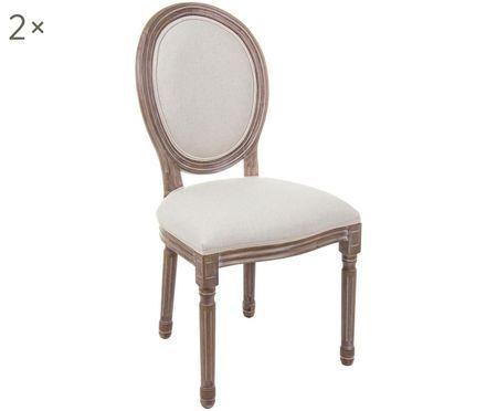 Gestoffeerde stoel Mathilde, 2 stuks