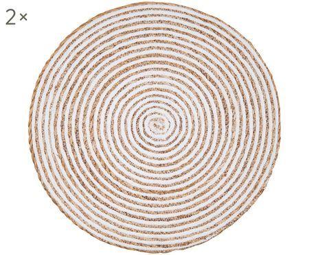 Runde Seegras Tischsets Savage, 2 Stück