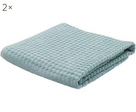 Handtücher Retro mit Hoch-Tief-Muster, 2 Stück