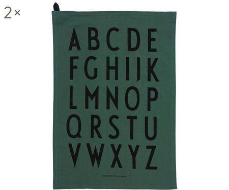 Canovaccio con lettere di design Classic 2 pz