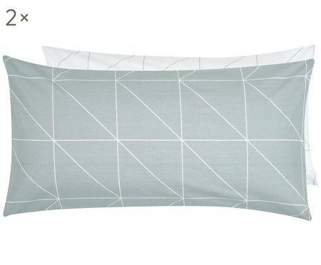 Renforcé-Wendekissenbezüge Marla mit grafischem Muster, 2 Stück