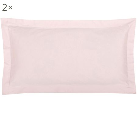 Povlak na polštář zbavlněného saténu slemem Premium, 2ks