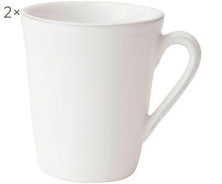 Tassen Constance in Weiß, 2 Stück
