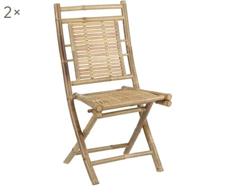 Bambusová skládací židle Tropical, 2 ks