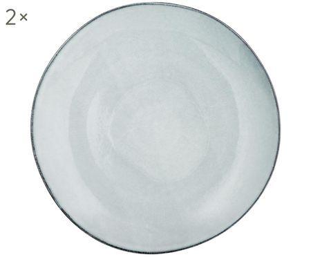 Handgemachte Speiseteller Thalia, 2 Stück
