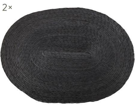 Ovale Tischsets Mineola aus Palmblättern, 2 Stück