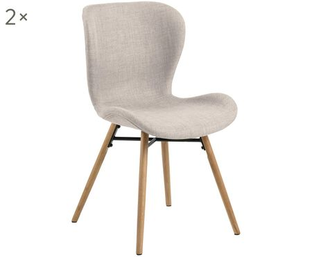 Krzesło tapicerowane Batilda, 2 szt.
