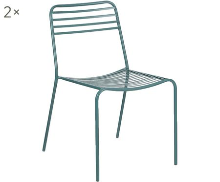 Krzesło z metalu Tula, 2szt.