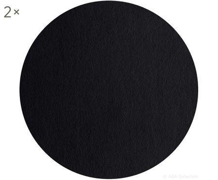 Tovaglietta rotonda in plastica effetto pelle Pik 2 pz