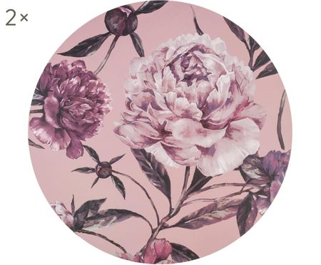 Ronde placemats Secret Garden, 2 stuks