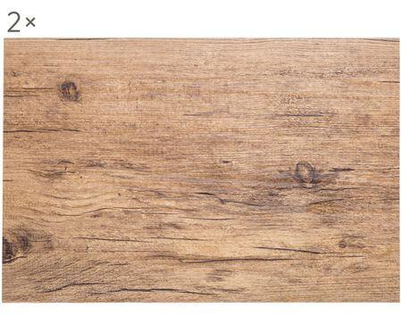 Plastové stolové prestieranie Oak, 2 ks