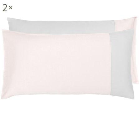 Oboustranný povlak na polštář zbavlněného saténu Amelia, 2 ks