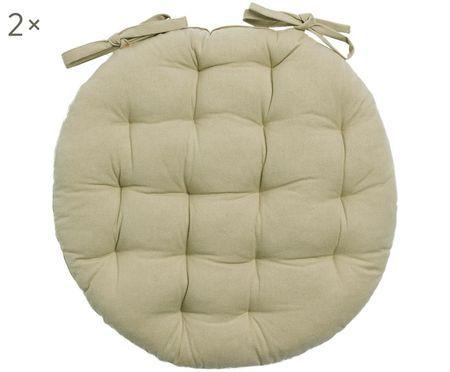 Okrągła poduszka na siedzisko Gavema, 2 szt.