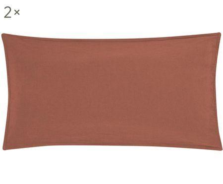 Lněný povlak na polštář sefektem soft-washed Carla, 2 ks