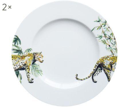 Frühstücksteller Panther, 2 Stück