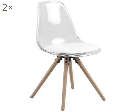 Krzesło z tworzywa sztucznego Henning, 2 szt.