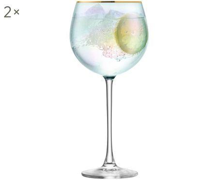 Copas de vino blanco de vidrio soplado Sorbet, 2uds.