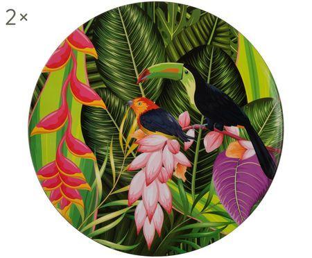 Piatti piani Tropical Bird, 2 pz.