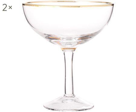 Coupes à champagne soufflées bouche Coppa, 2pièces