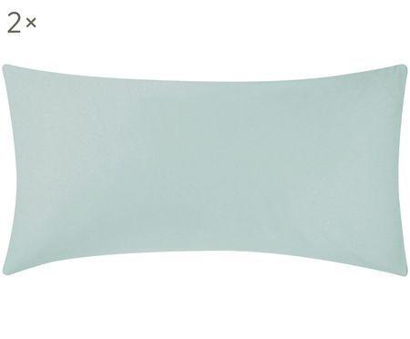 Baumwollsatin-Kissenbezüge Comfort in Salbeigrün, 2 Stück