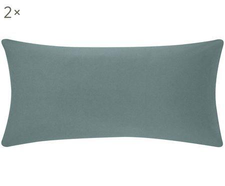 Flanell-Kissenbezüge Biba in Grün, 2 Stück