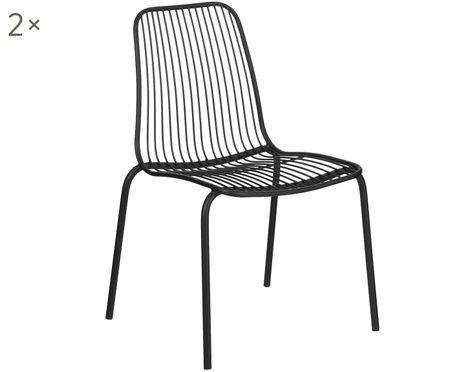 Chaises en métal Tirana, 2 pièces