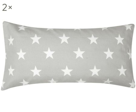 Flanelová obojstranná obliečka na vankúš Alice s hviezdičkami, 2 ks