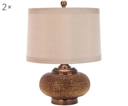 Lámparas de mesa Oriental, 2uds., estilo boho