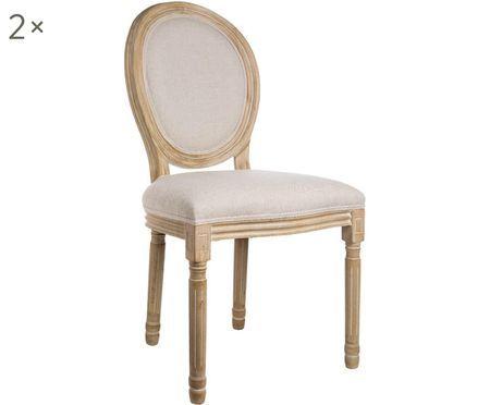Set de sillas Louis, 2 uds.